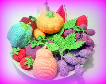PATTERN!!! Crochet vegetables and fruits PDF-file