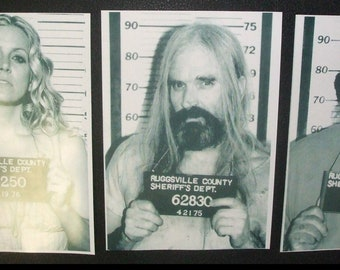 THE DEVIL'S REJECTS rob zombie 3 mug shot movie 8x10 photo set house of corpses spaulding horror
