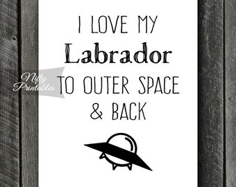 Labrador Print - INSTANT DOWNLOAD Labrador Art - Black Labrador Print - Labrador Poster - Funny Labrador Gifts - Yellow Labrador Wall Art