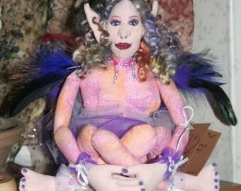 Fairy Doll, Cloth Doll, OOAK Doll   ON SALE
