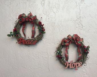Peace & Hope Christmas Wreaths
