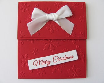 Christmas Gift Card Holders, Snowflake Gift Card Envelopes, Gift Cards, Money Holders, Holiday Gift Card Holders, Snowflakes, Embossed Cards