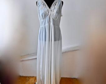 Vanity Fair 1950s Sheer Nylon Negligee - Sheer Nylon Nightgown - Nylon Nightie