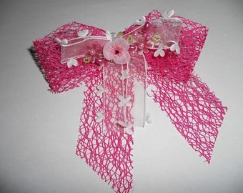 With double Ribbon hair bow