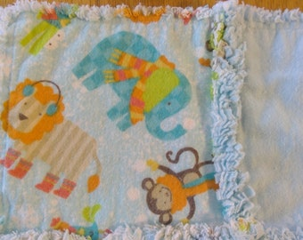 Jungle-Themed Burp Cloth / Changing Pad / Home from the Hospital Blanket