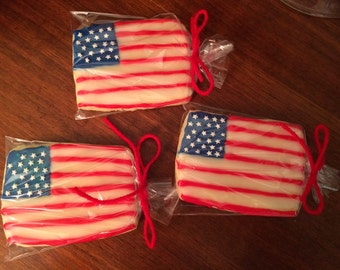 American Flag Cookies - perfect party cookies!