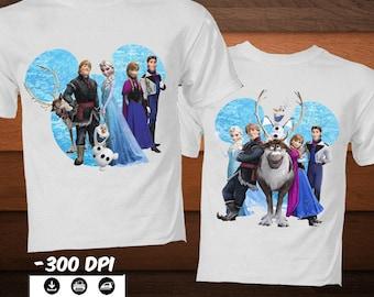 SET Disney Frozen Iron on Shirt  Elsa Iron on Transfer Image-Printable Disney Princess Party Decoration Shirt-DIGITAL DOWNLOAD