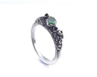 Tsavorite Dark Forrest Ring