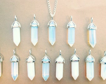 CLEARANCE IMPERFECT Opal Crystal Necklace // Holographic Opalite // Discounted Crystal Necklace