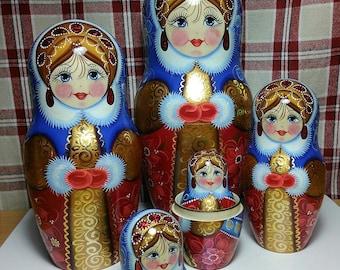 Matryoshka doll, nesting doll, babushka doll, unique gift