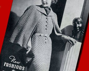 Fleisher's Knitting Patterns #45 c.1937 Excellent Vintage Fashions for Women