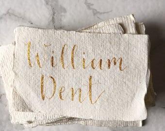 Handmade Paper Place Cards | Custom Wedding Place Cards | Rustic Place Cards | Personalised | Place Setttings | Calligraphy |