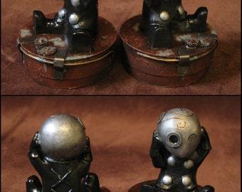 """Steampunk """"Mr Tiboudou"""" figurine"""