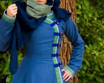 Kaftan reconstruction crusades blue wool coat
