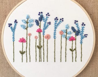 Simple floral embroidered decor