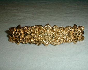 Jahrgang Mfa gold vergoldet Florentine filigrane Blumen Haarspange in Frankreich Museum der bildenden Künste Replik Haarspange erhebliche gold
