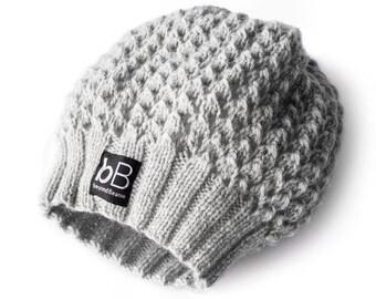 Loose beanie / Grey beanie /Spring beanie /Elegant beanie /Soft beanie /Crochet hat /Crochet beanie /Winter hat /Winter beanie /Gift for her