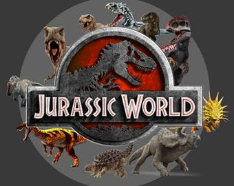 50 Jurassic World ClipArt - Digital , PNG, image, picture, jurassic park ClipArt,llustration, art , birthday,handicraft