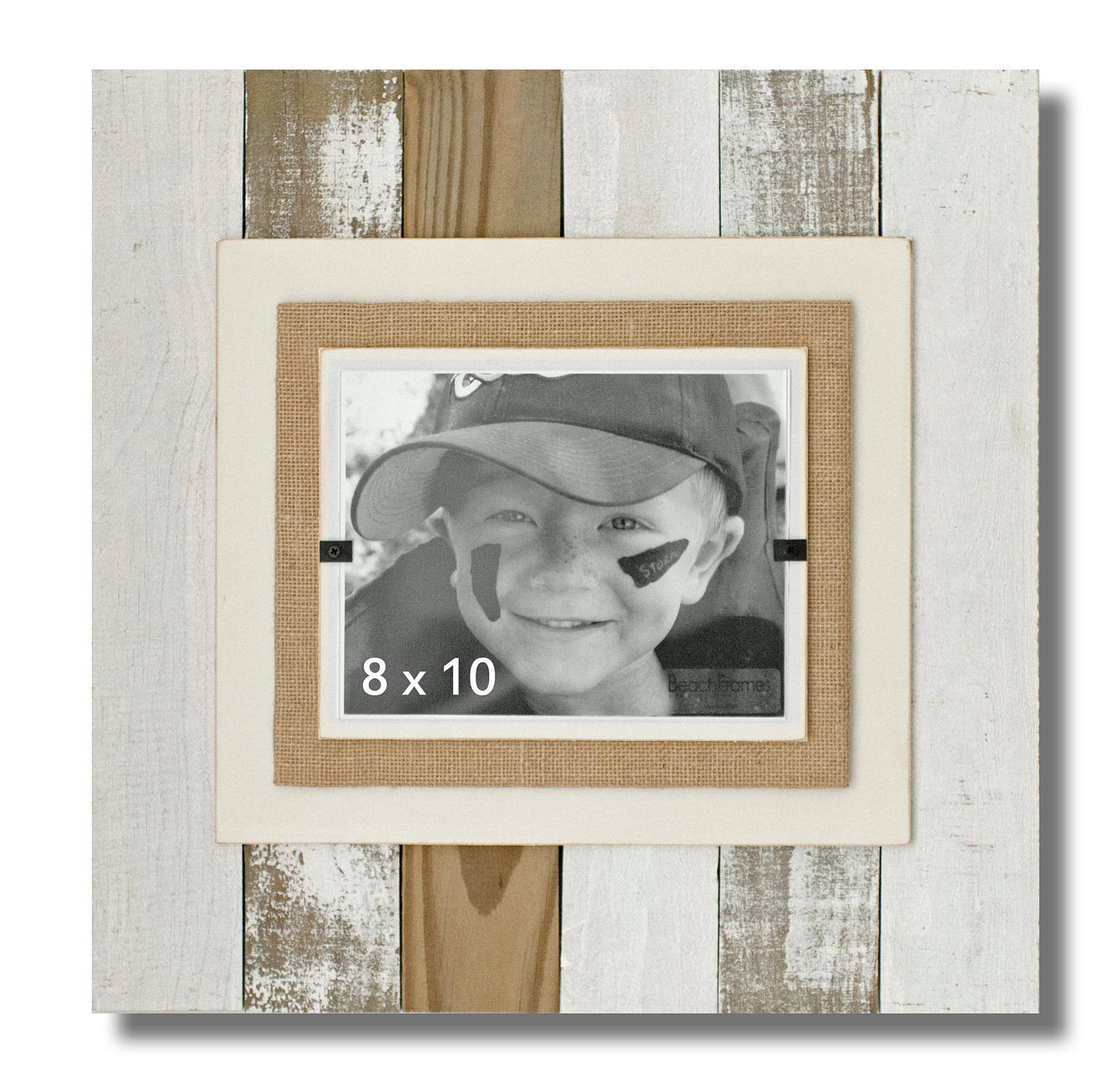 Cape cod style reclaimed wood white washed picture frame with 3900 jeuxipadfo Images