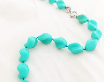 Necklace -Sarah Coventry Beaded Turquoise Robins Egg Spring Blue