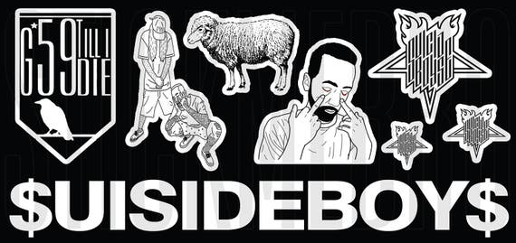 SUISIDEBOYS SUISIDE BOYS Music Love Decals Vinyl Tumblr Stickers On Laptop Art Sticker Waterproof Gifts Ideas From