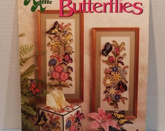 Butterflies Plastic Canvas 6 Pattern Projects Crafts Vintage By Annie's Attic