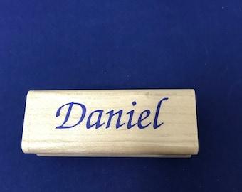 Daniel, Name Rubber Stamp by Inkadinkado