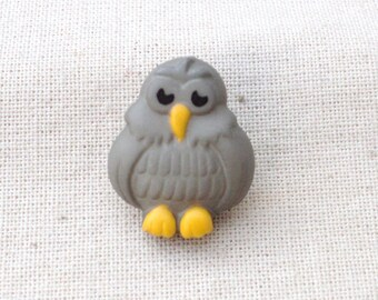 knopf button mit ose 18mm Grey Owl