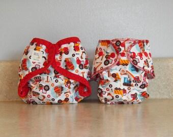 Preemie Newborn Cloth Diaper & Diaper Cover Set-  4 to 9 pounds- Construction- 29043