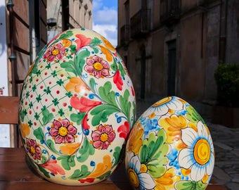 Ceramic Eggs Floral Decor