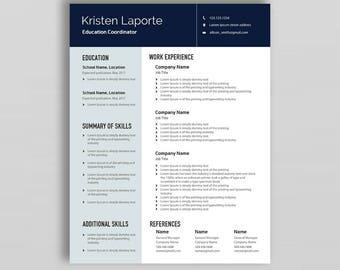 Professional Resume Template   Resume Template Word   CV Template   Minimalist Resume Template   Cover Letter Template   Creative Resume