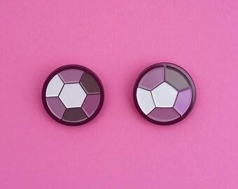 CLEARANCE Steven Universe Smoky Quartz Gem Pins Soft Enamel Pins Crystal Gems Fusion Best Friends Pins