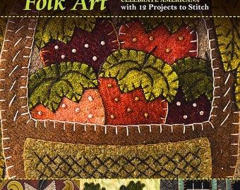 Pattern Book: Seasons of Wool Applique Folk Art - by Rebekah L Smith