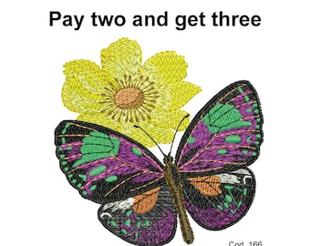 Embroidery design butterfly
