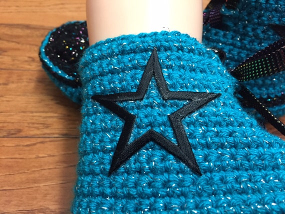 slippers converse converse high converse crocheted slippers top crochet shoes 380 sneaker blue inspired converse tennis 8 Womens Converse 10 xYnqvf1Hx