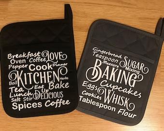 Word Art Potholder/ Baking Potholder/ Kitchen Potholder/ Baking Hotpad/ Kithchen Hotpad