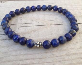 6mm Lapis Lazuli stretch bracelet