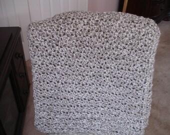 Silver Gray Afghan, Throw Blanket, Sofa Throw, Crocheted Afghan, Crocheted Blanket, Housewarming Gift, Hostess Gift