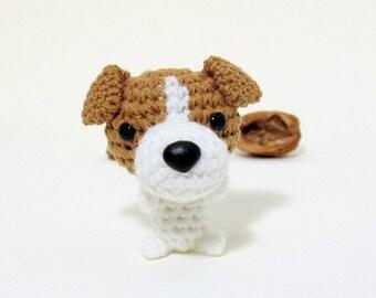 Amigurumi Jack Russell Terrier plushie, Jack Russell plush toy, crochet Jack Russell.