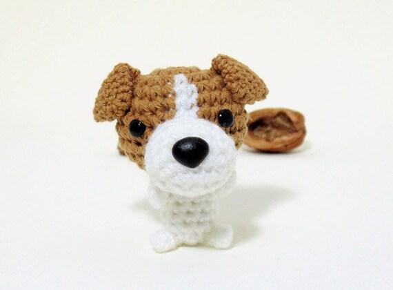 Amigurumi Jack Russell Pattern : Amigurumi jack russell terrier plushie jack russell plush