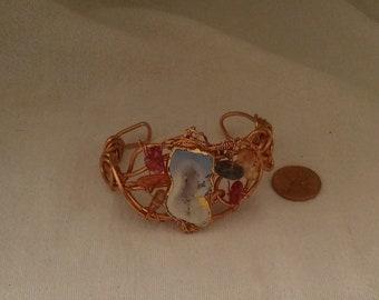 Twisted Copper Wire with Druzy Bracelet