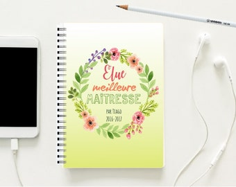 "A5 notebook with hardcover ""The best one"" centerpiece"