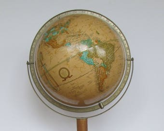 Cram's Imperial 12 inch World Globe on Floor Stand