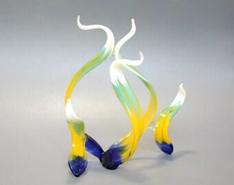 Abstract Glass Sculpture - Fine Art Home Decor - Kiwi Sunset - Original Art