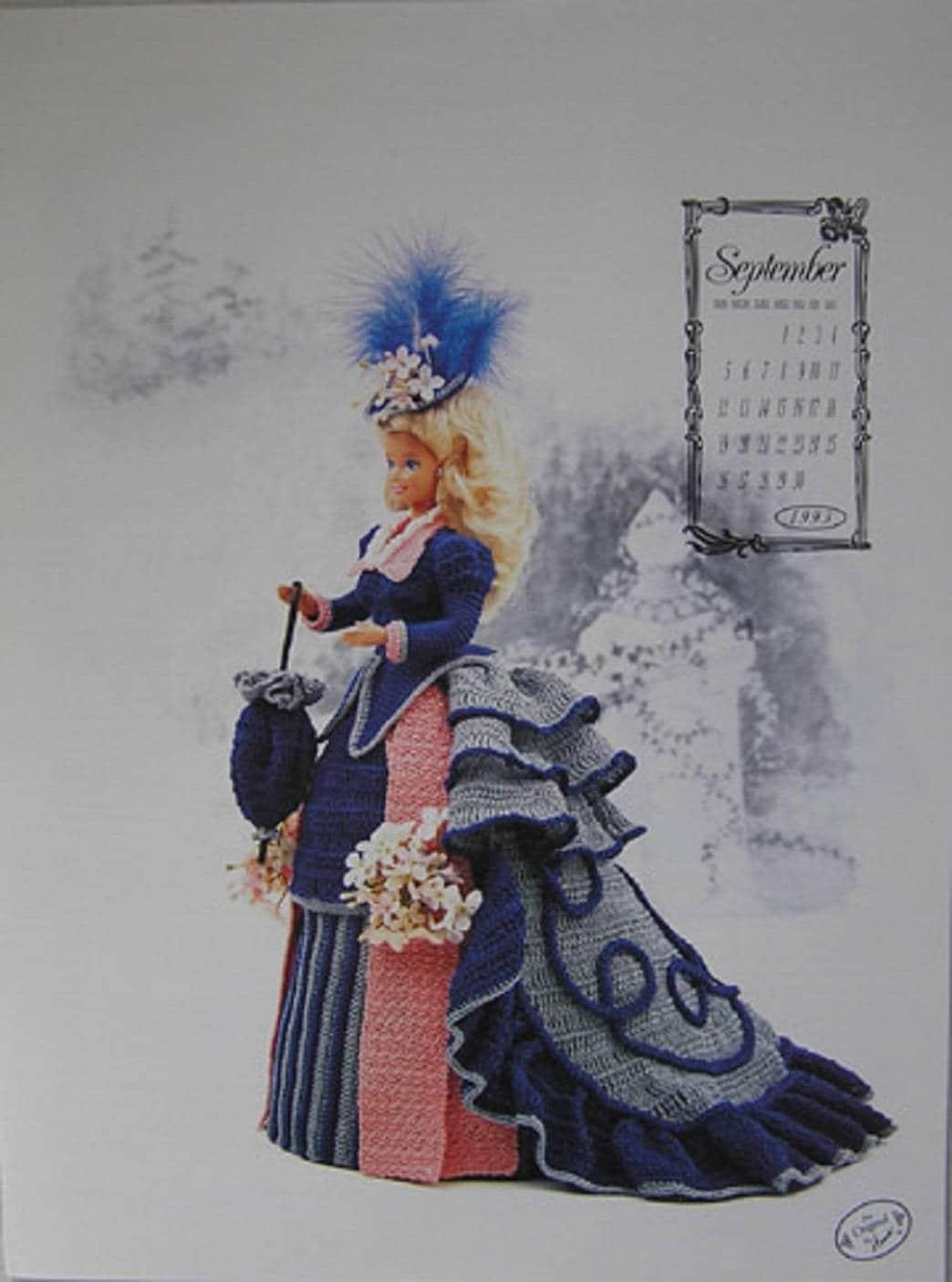 Annie Dachboden Kalender Victorian Lady Centennial Miss