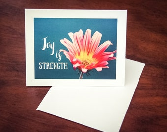Joy is Strength Note Card