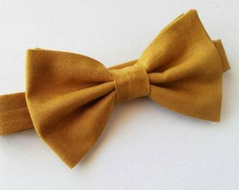 Mustard Yellow Bowtie / Yellow Bowtie / Wedding Bowtie / Mens Bowtie / Boys Bowtie / Vintage Wedding / sweet 16 bow ties / newborn bowtie