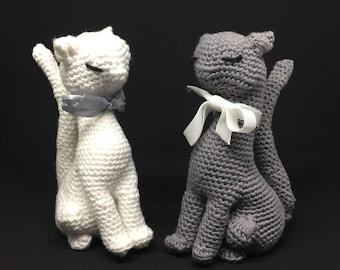 Cat crochet stuffed toy