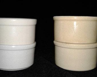 RRP Co Various 2 inch Stoneware Crocks- Snack Bowls, Pet Food Bowls, Food Prep-Storage