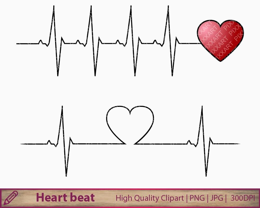 heart beat clipart heartbeat clip art love life medical rh etsy com heart rate clip art free heartbeat clipart racing